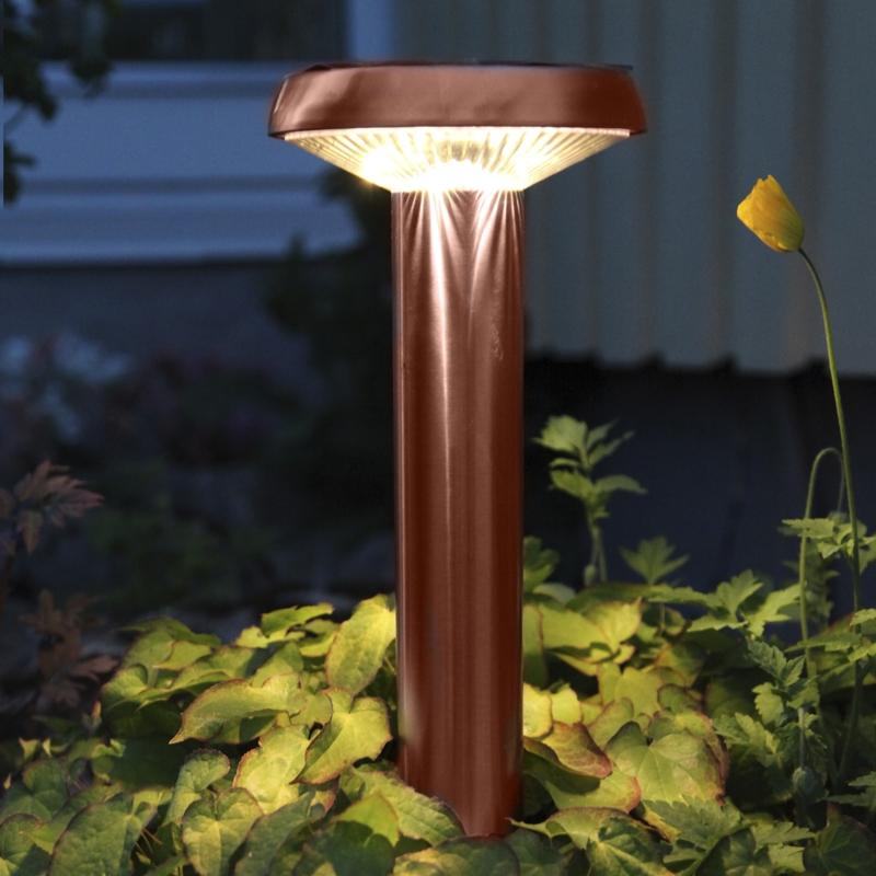 Hochwertige led solarleuchte 61x18cm kupferfarben for Deko kupferfarben