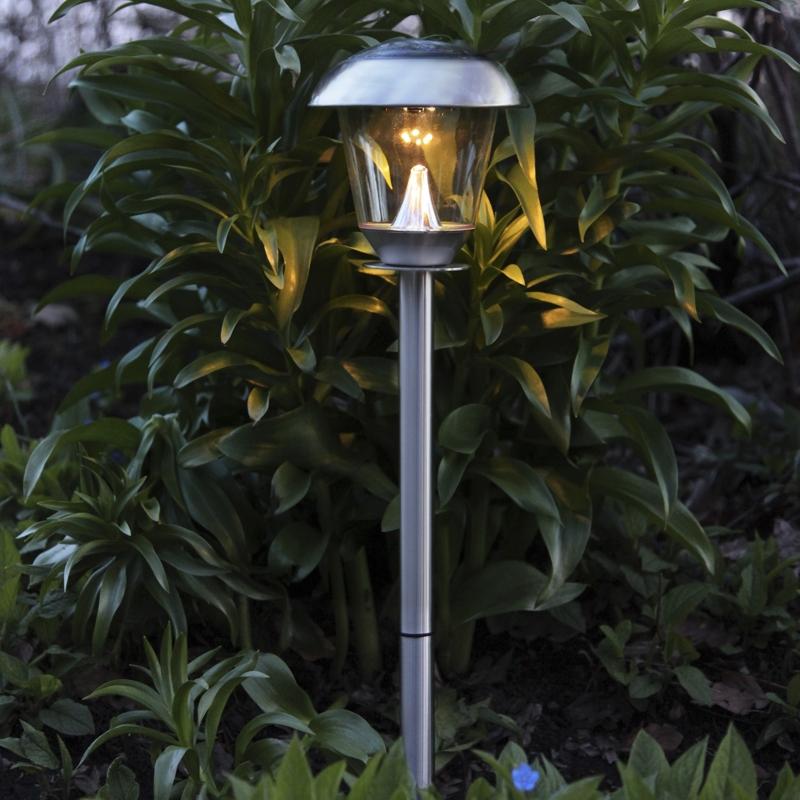 Hochwertige led solar leuchte warmwei edelstahl for Hochwertige solarleuchten