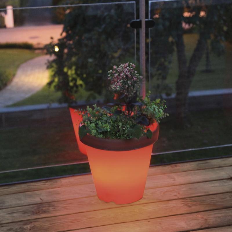 led beleuchteter pflanzk bel blumentopf pflanztopf. Black Bedroom Furniture Sets. Home Design Ideas