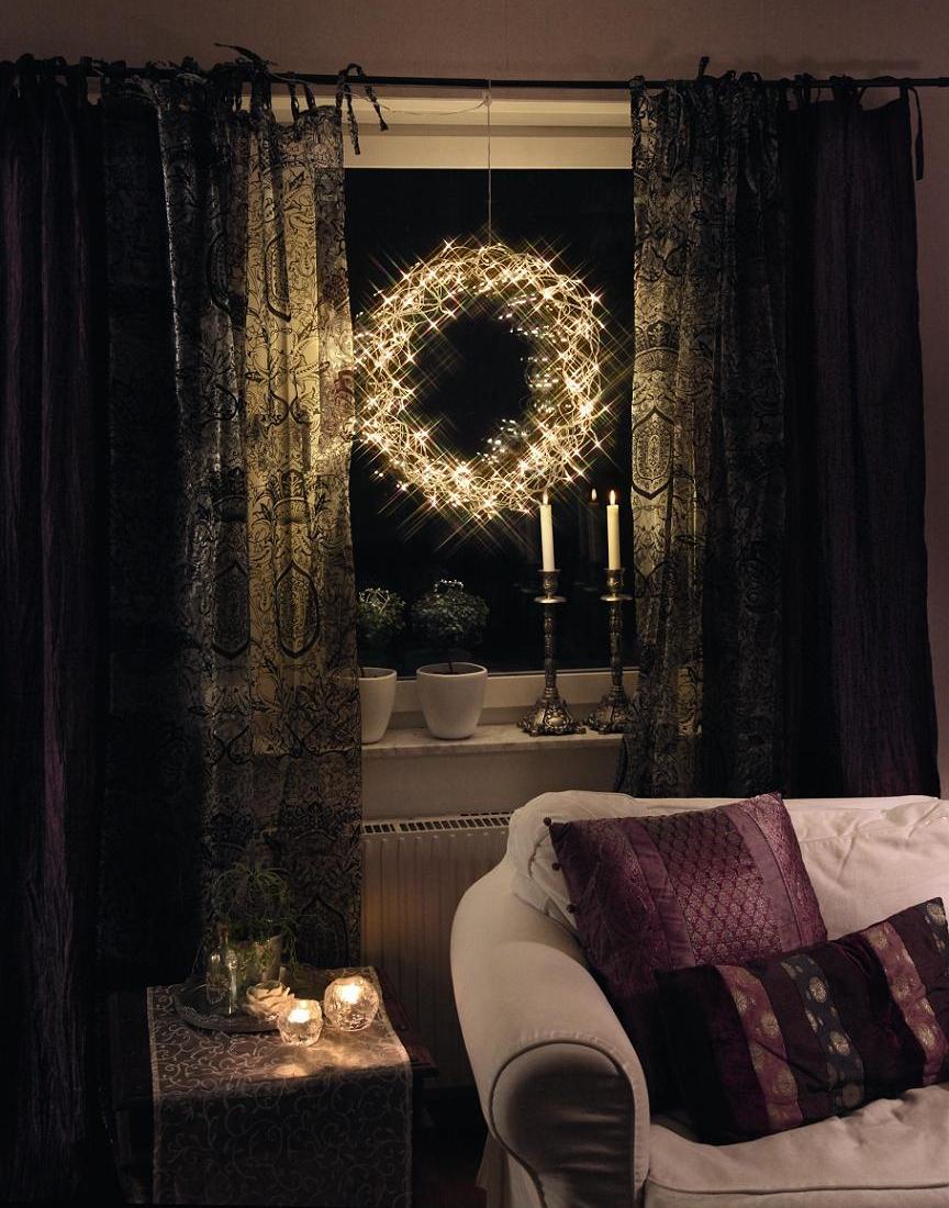 led licht kranz 50cm curly beleuchtet design. Black Bedroom Furniture Sets. Home Design Ideas