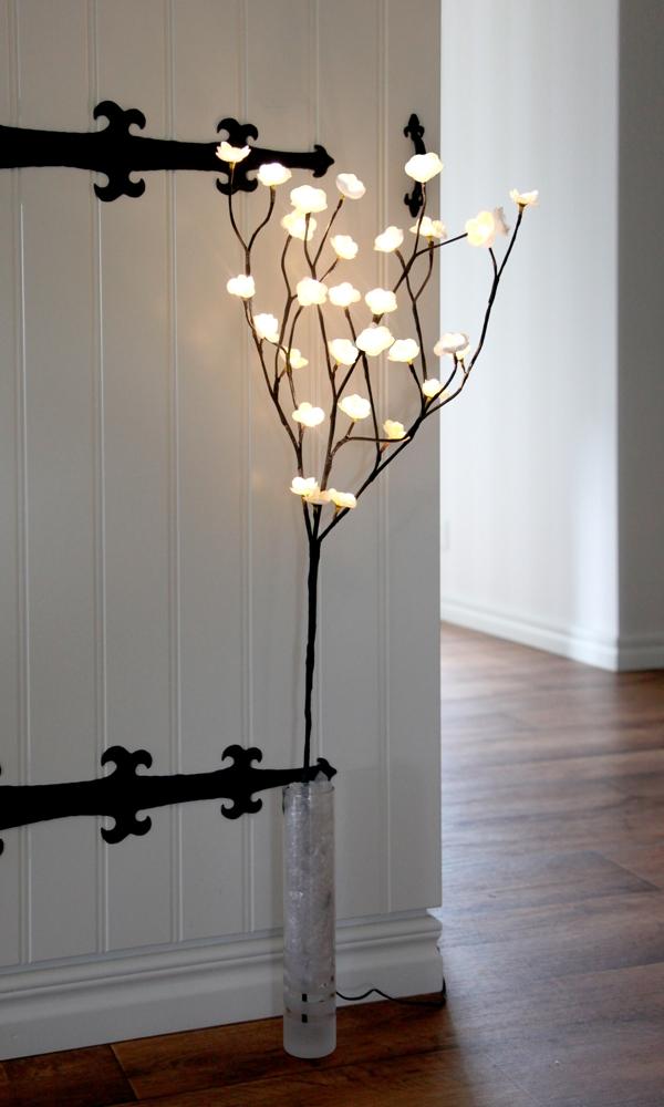 led deko leucht zweige blossombranch wei beleuchtet 30 led. Black Bedroom Furniture Sets. Home Design Ideas