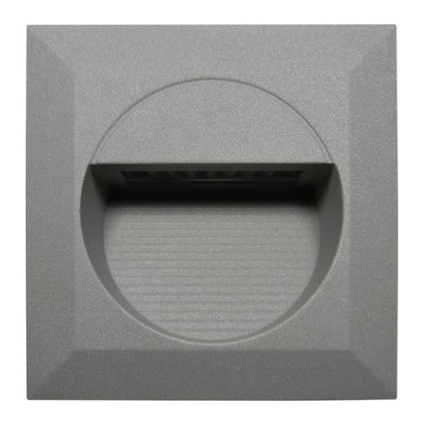 led wand einbau leuchte wel q14 230v 1 2w ip65. Black Bedroom Furniture Sets. Home Design Ideas