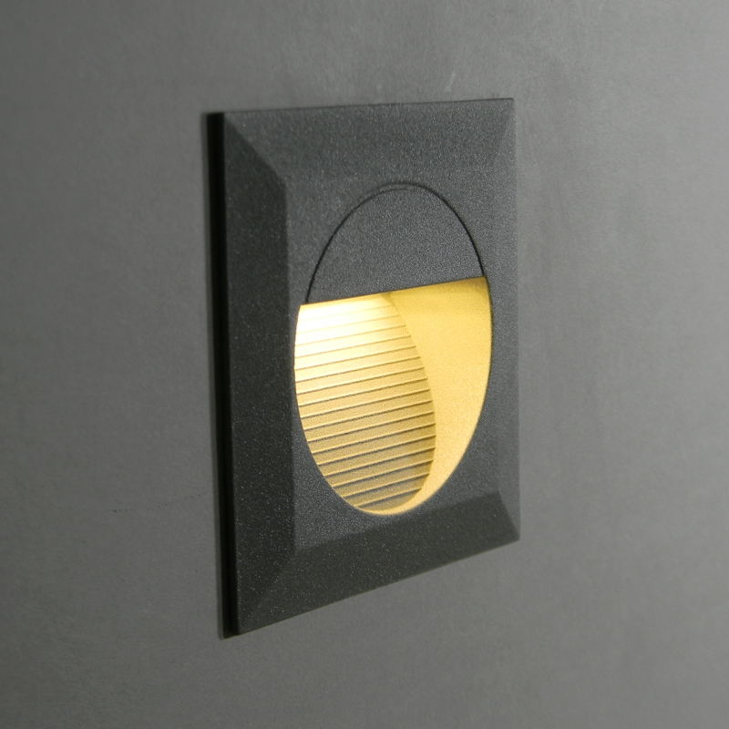 Led Wall Recessed Light 230V 1.2W IP65 / Step Staircase Stairway lighting eBay