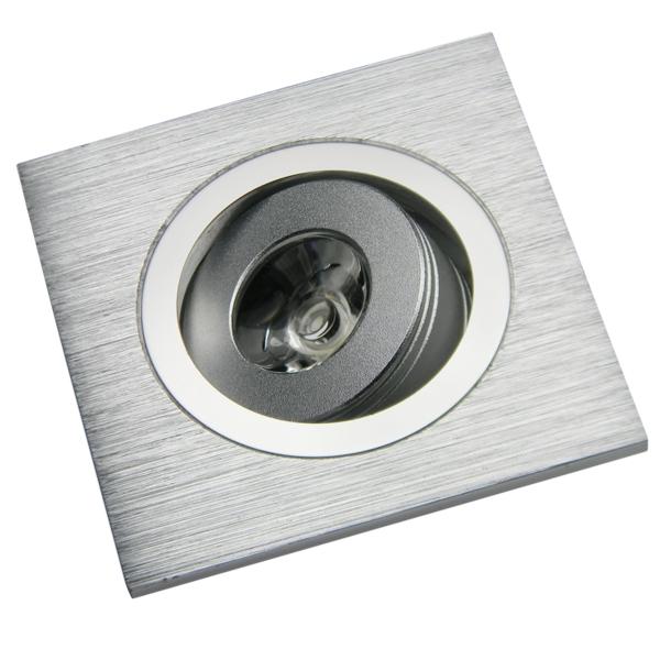 1w led decken einbauleuchte qd 1 eckig 80lm warmwei 60x60mm 230v einbaustrahler spot downlight. Black Bedroom Furniture Sets. Home Design Ideas