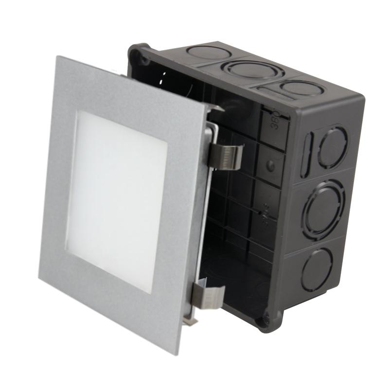 led wandeinbauleuchte led panel 27635 warmwei 107x107mm ekk a 230v 3 5w 95lm ip20 inkl up dose. Black Bedroom Furniture Sets. Home Design Ideas