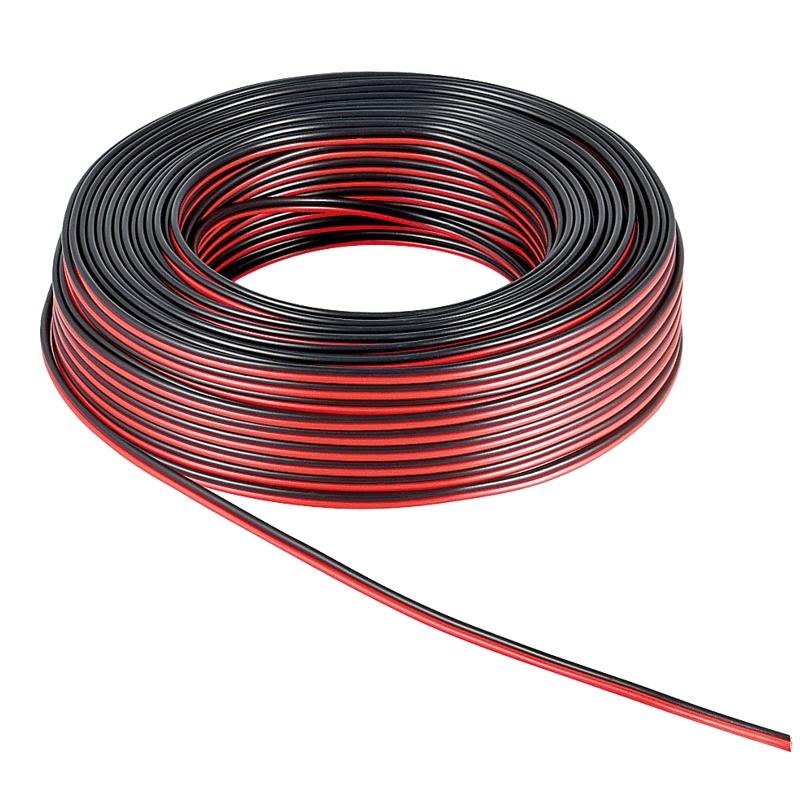 10m doppio filo 2x0 5mm rosso nero cavo altoparlanti cavo litze ebay. Black Bedroom Furniture Sets. Home Design Ideas