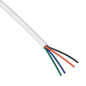 10m rgb led kabel litze wei ummantelt 4 adrig. Black Bedroom Furniture Sets. Home Design Ideas