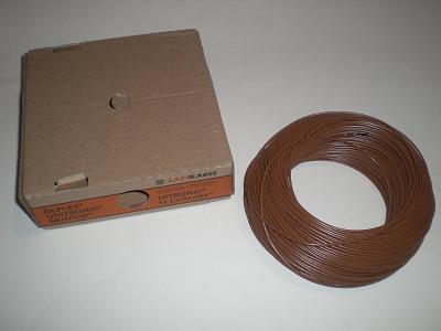 10m flexible litze kabel 1 5mm braun 0 38 m ebay. Black Bedroom Furniture Sets. Home Design Ideas