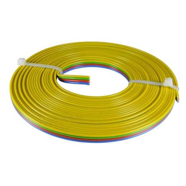 5m rgb led kabel 4x 0 25mm 4 adrig blau rot gr n gelb f r strips co. Black Bedroom Furniture Sets. Home Design Ideas