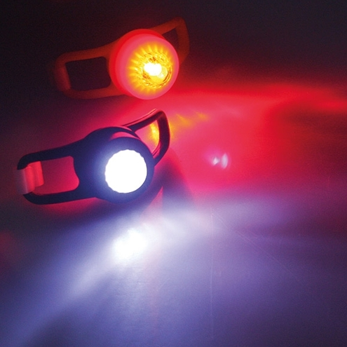 led leuchten set fls sili silikon lampen jogger schulranzen kinderwagen licht ebay. Black Bedroom Furniture Sets. Home Design Ideas