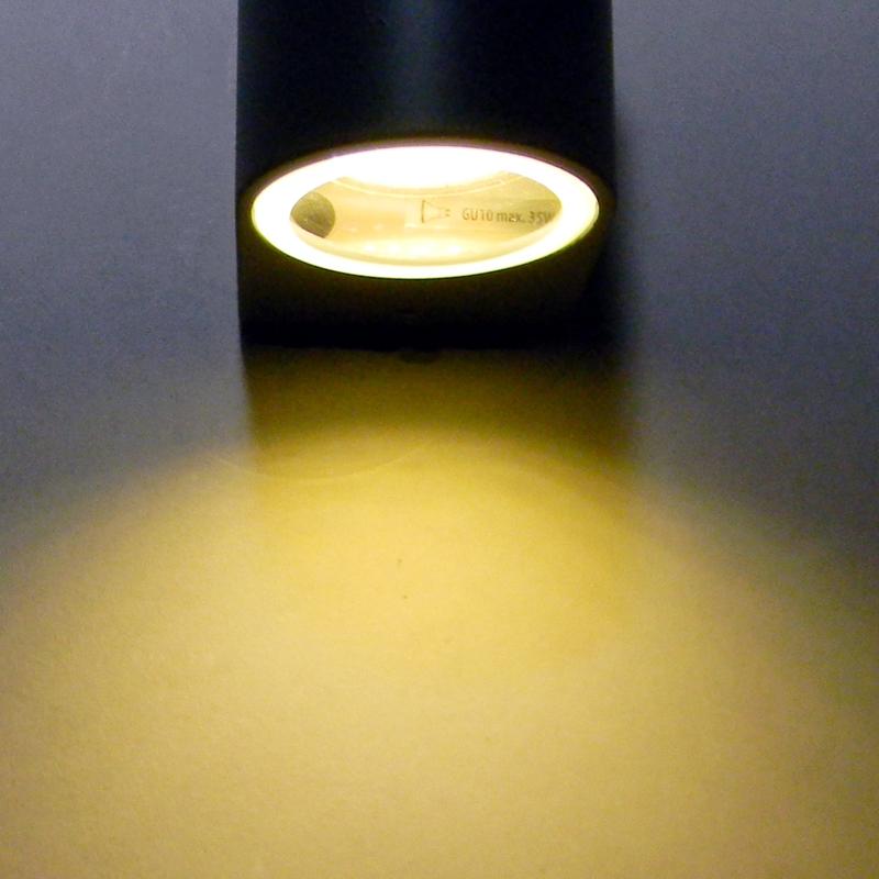 wandleuchte 230v ip44 gu10 2 flammig up down wandlampe. Black Bedroom Furniture Sets. Home Design Ideas