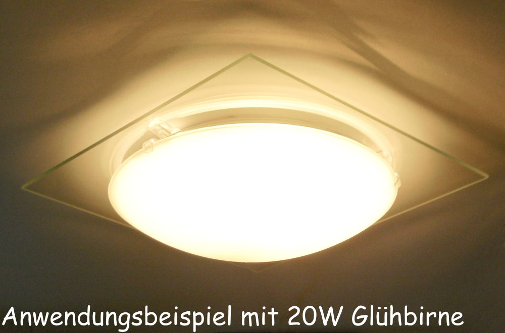 moderne deckenleuchte aus glas 29x29x9cm 230volt e27 deckenlampe. Black Bedroom Furniture Sets. Home Design Ideas
