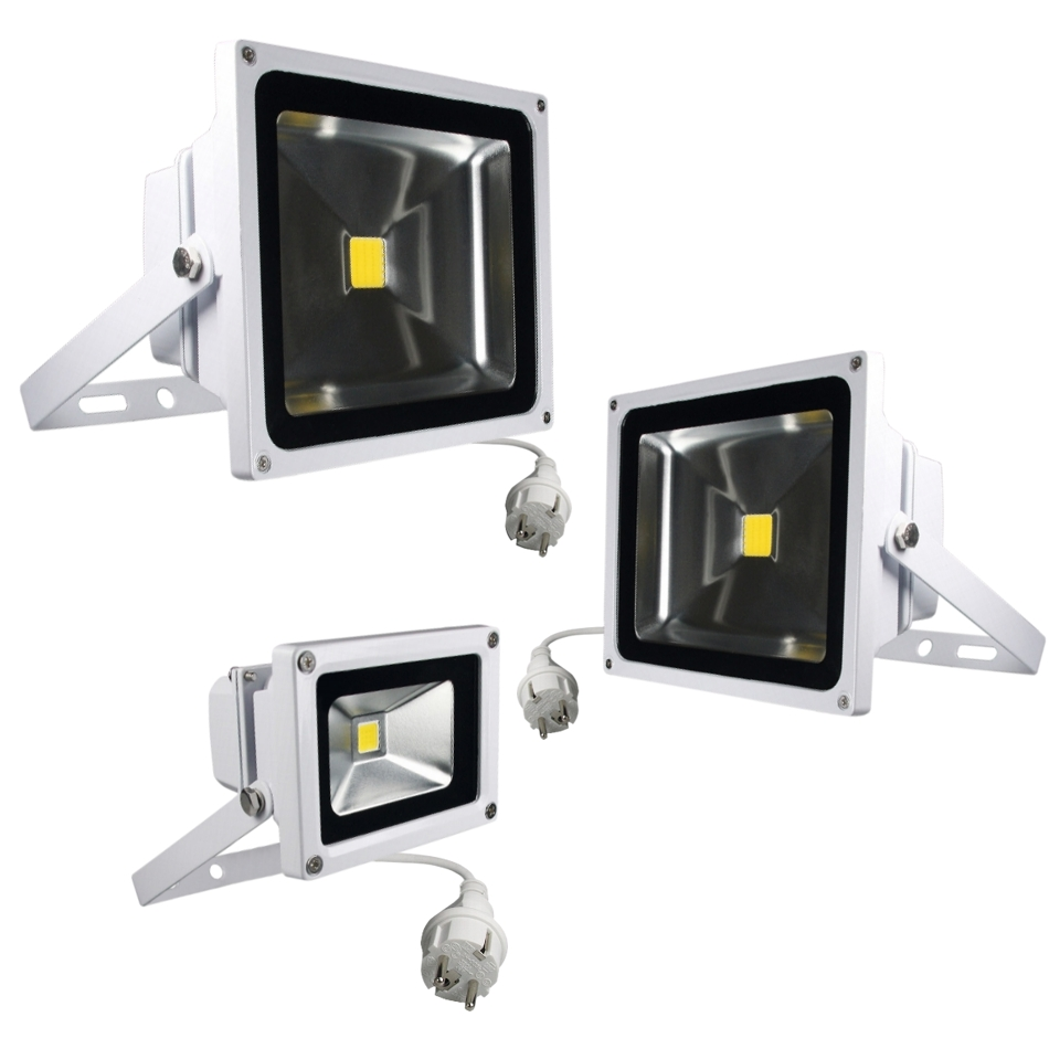 Blanco led proyectores ip65 230v luz de vuelo exterior - Proyectores de luz ...