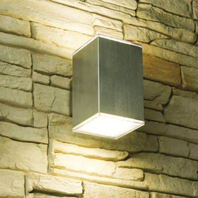 led wandleuchte kubus ip44 f r den aussenbereich 1 od 2 flammig aussenleuchte ebay. Black Bedroom Furniture Sets. Home Design Ideas