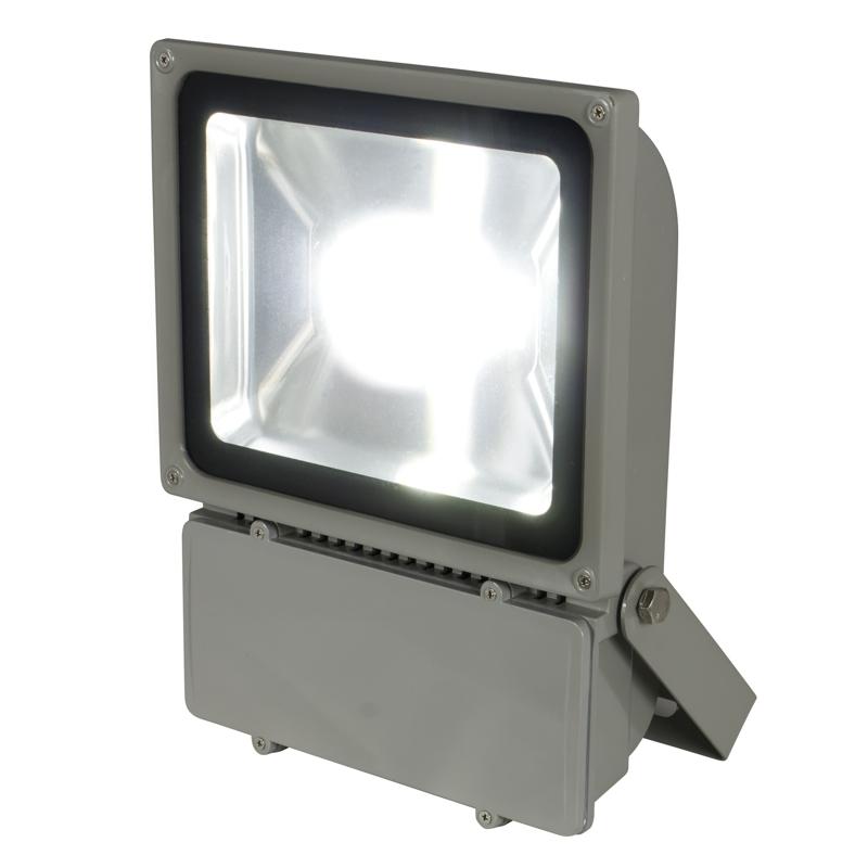 heitronic 80w led fluter ip65 230v 5000lm warmwei fluchtlicht strahler. Black Bedroom Furniture Sets. Home Design Ideas