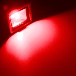 10w led au enstrahler fluter rot ip65 230v fluchtlicht strahler ledstrahler. Black Bedroom Furniture Sets. Home Design Ideas