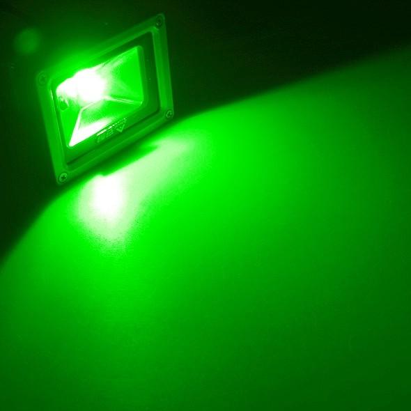10w led au enstrahler fluter gr n ip65 230v fluchtlicht. Black Bedroom Furniture Sets. Home Design Ideas