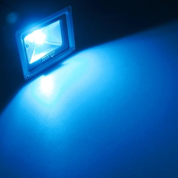 10w led au enstrahler fluter blau ip65 230v fluchtlicht strahler ledstrahler. Black Bedroom Furniture Sets. Home Design Ideas
