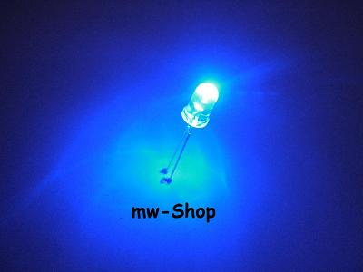 10-BLINKENDE-blaue-Leds-5mm-flashing-led-blau-blue-bleu