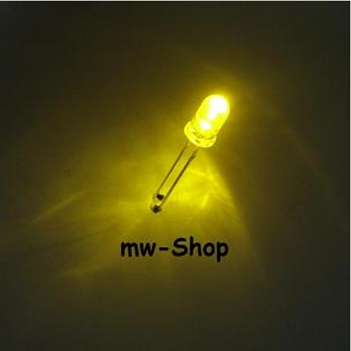 50-BLINKENDE-gelbe-Leds-5mm-flashing-led-gelb-yellow