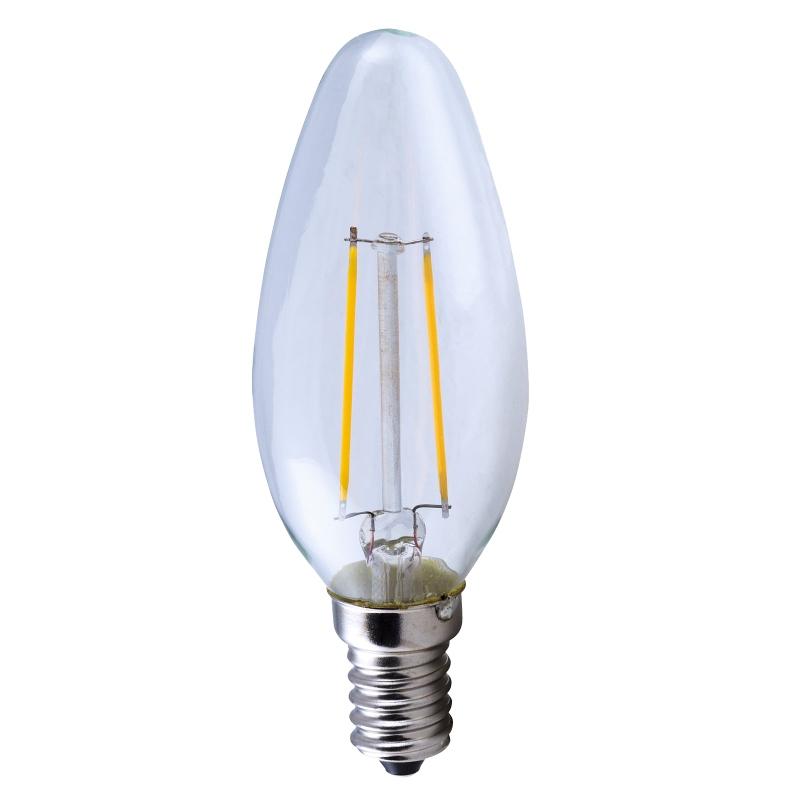led leuchtmittel filament e14 ht16176 warmwei 200lm 230v 2w kerzen form ekk a. Black Bedroom Furniture Sets. Home Design Ideas