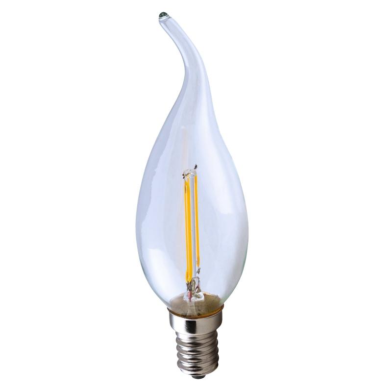 led leuchtmittel filament e14 ht16177 warmwei 200lm 230v 2w windsto kerzen form ekk a. Black Bedroom Furniture Sets. Home Design Ideas
