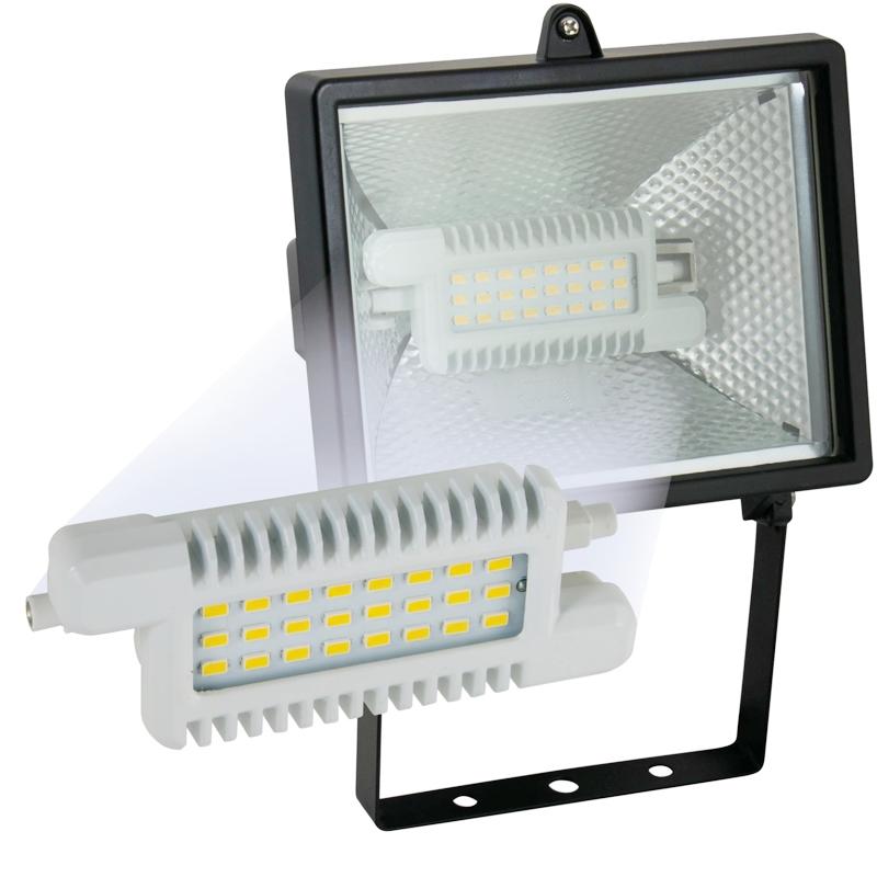 led leuchtmittel r7s 118mm warmwei 660lm 230v 8w ht19273. Black Bedroom Furniture Sets. Home Design Ideas