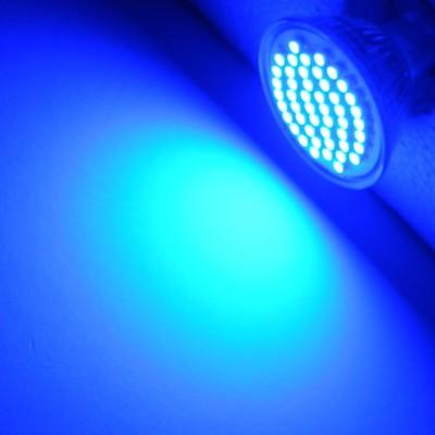 smd led strahler mr16 blau 48 leds 12 volt lampe spot. Black Bedroom Furniture Sets. Home Design Ideas
