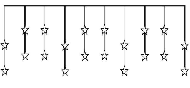 beleuchtete sterne f r fenster 3er set beleuchtete sterne. Black Bedroom Furniture Sets. Home Design Ideas