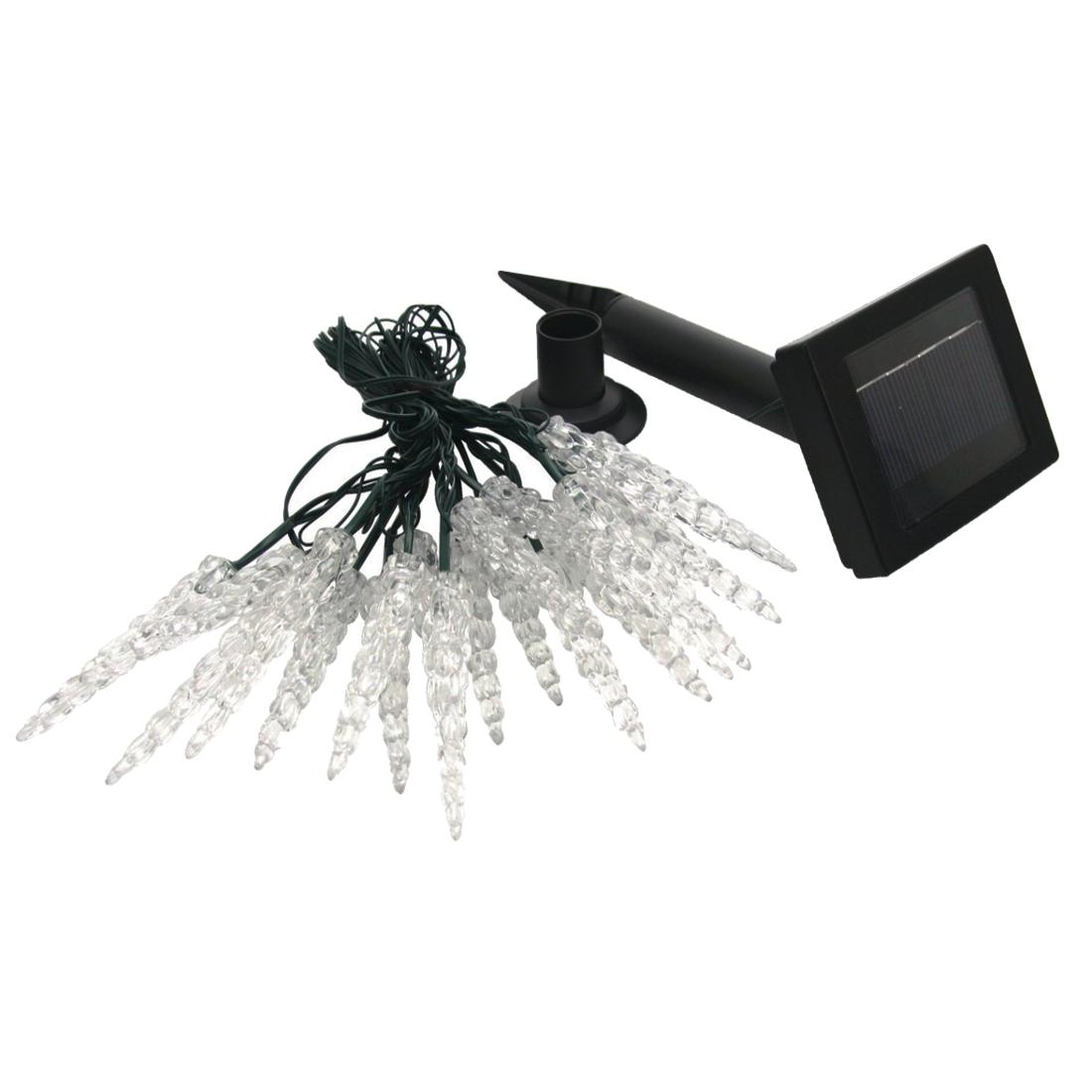 solar led lichterkette mit 20 beleuchteten eiszapfen lichtervorhang heitronic ebay. Black Bedroom Furniture Sets. Home Design Ideas