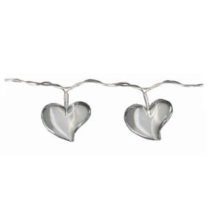 led lichterkette acrylic heart transparent mit 10 leds f r innen 4 8m motiv herzen love. Black Bedroom Furniture Sets. Home Design Ideas