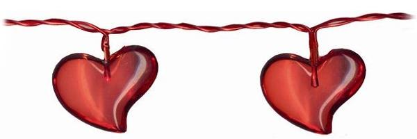 led lichterkette acrylic heart rot mit 10 leds f r innen 4 8m motiv herzen love. Black Bedroom Furniture Sets. Home Design Ideas