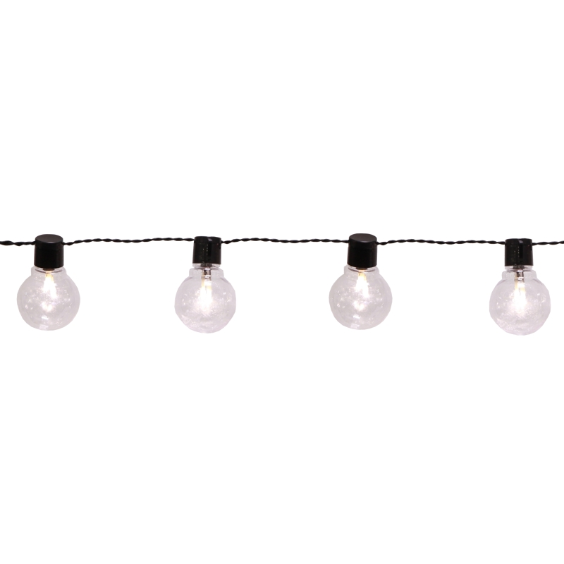 led party lichterkette lightchain klar kabel schwarz mit 16 gl hbirnen 9 5m 230v. Black Bedroom Furniture Sets. Home Design Ideas