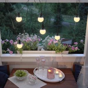 solar led lichterkette ballscombo mit 6 kugeln h ngen. Black Bedroom Furniture Sets. Home Design Ideas