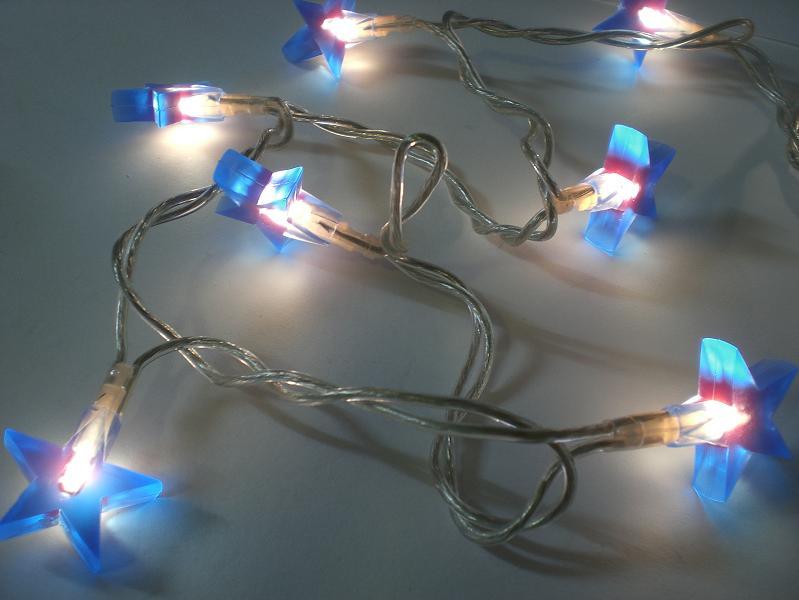 lichterkette stars f r innen mit 20 blauen sterne 8. Black Bedroom Furniture Sets. Home Design Ideas