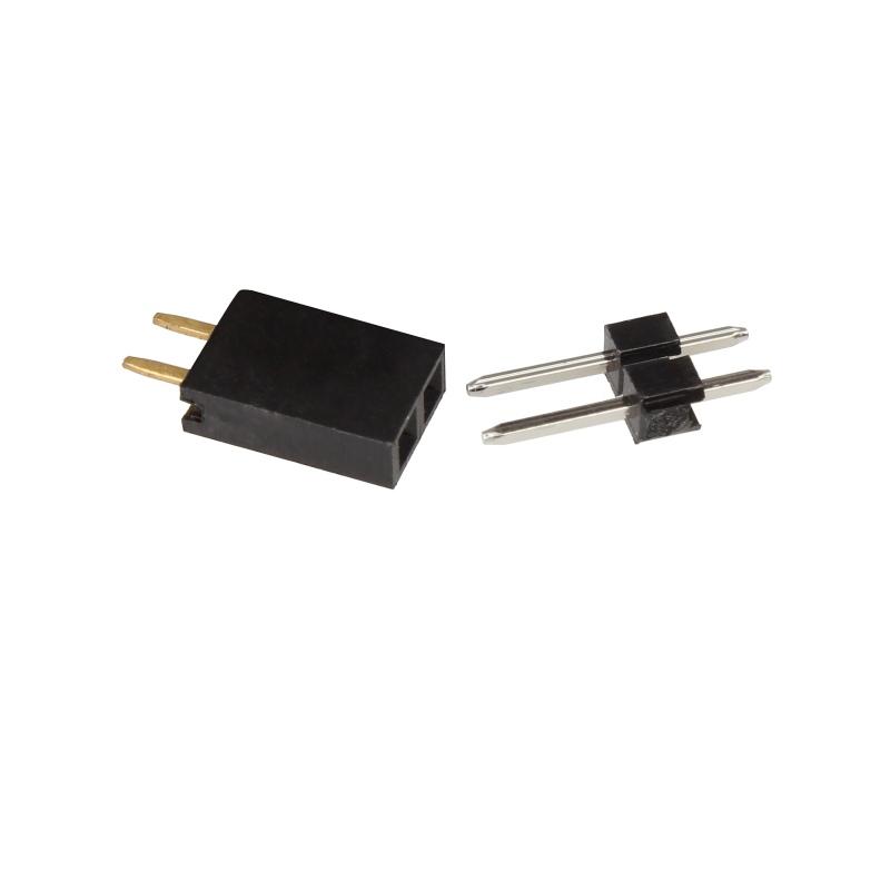 10 miniatur steckverbinder 2 polig rm 2 54mm stecker set. Black Bedroom Furniture Sets. Home Design Ideas