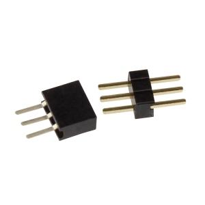 10 miniatur steckverbinder 3 polig rm 1 27mm stecker set. Black Bedroom Furniture Sets. Home Design Ideas