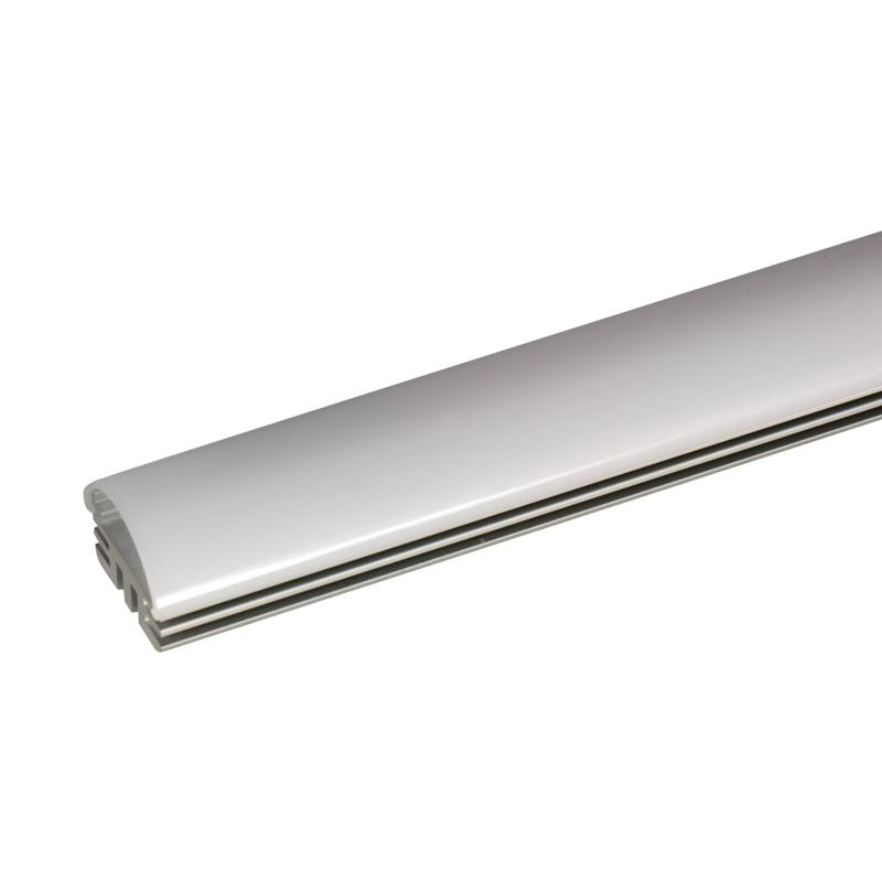 1m aluminium halbrund profil f r led strips incl abdeckung endkappen montageklemmen. Black Bedroom Furniture Sets. Home Design Ideas
