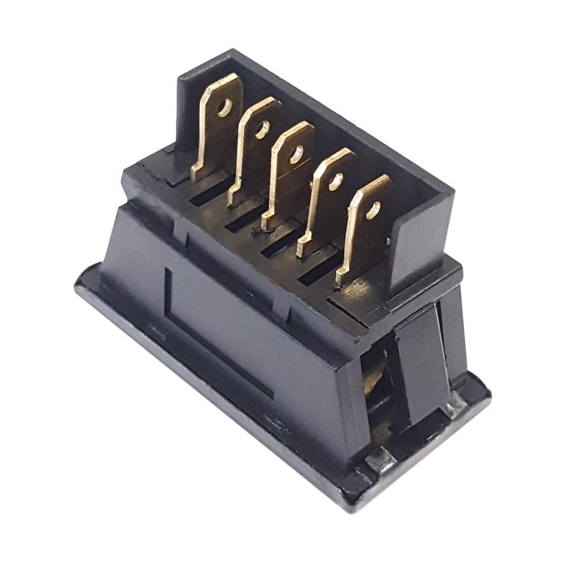 kfz fensterheber schalter 12v 10a led beleuchtet taster 5 pin auto universal ebay. Black Bedroom Furniture Sets. Home Design Ideas