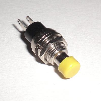 miniatur-Taster-GELB-250V-1A-DRUCKTASTER-Schliesser