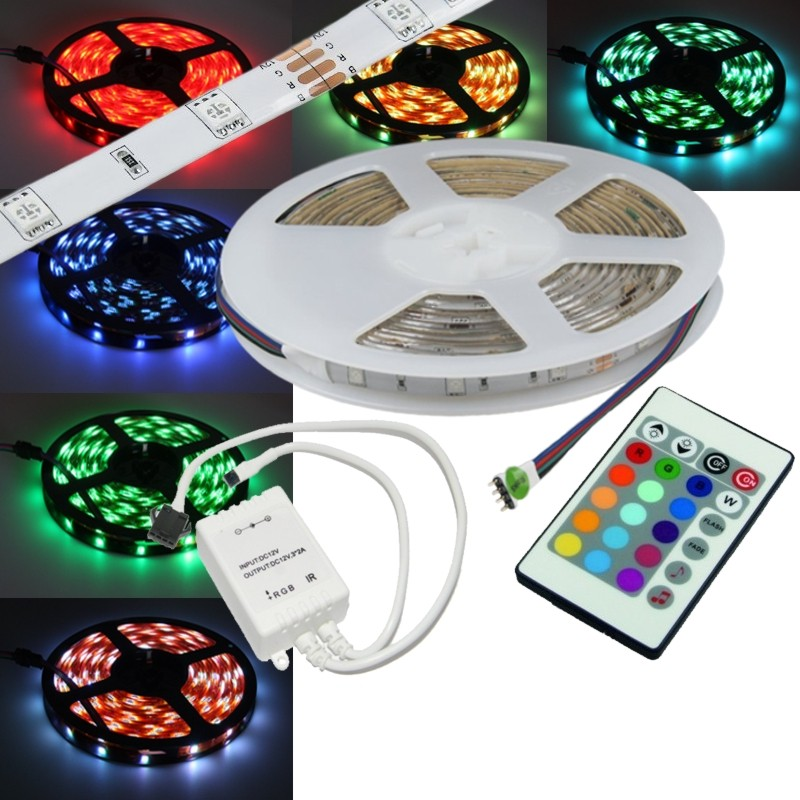 9 49 m 10 meter rgb smd led leiste set flexibel strip. Black Bedroom Furniture Sets. Home Design Ideas