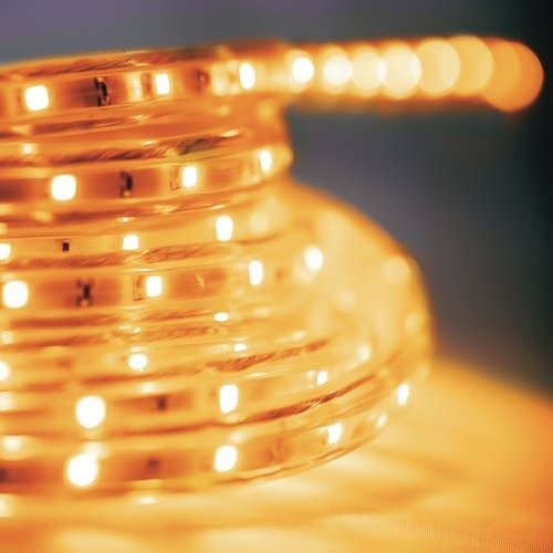 5m led stripe gelb 230v dimmbar ip44 smd licht streifen. Black Bedroom Furniture Sets. Home Design Ideas