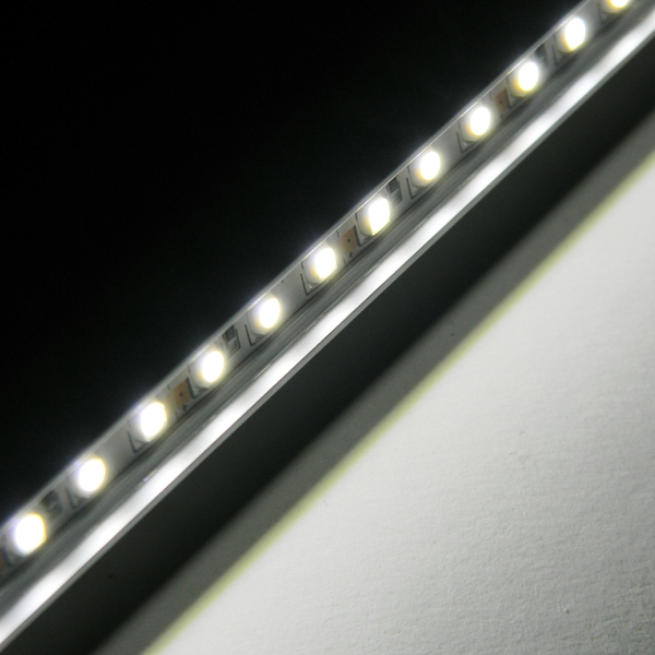 led leiste in alu profil wei 60 smd 50cm starr ip65 strip unterbauleuchte ebay. Black Bedroom Furniture Sets. Home Design Ideas