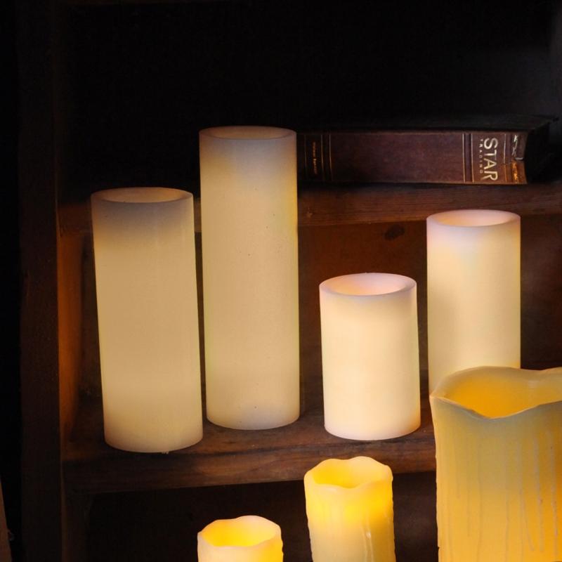 led echt wachs kerze big mit timer flackernde flammenlose kerzen wax candle xl ebay. Black Bedroom Furniture Sets. Home Design Ideas