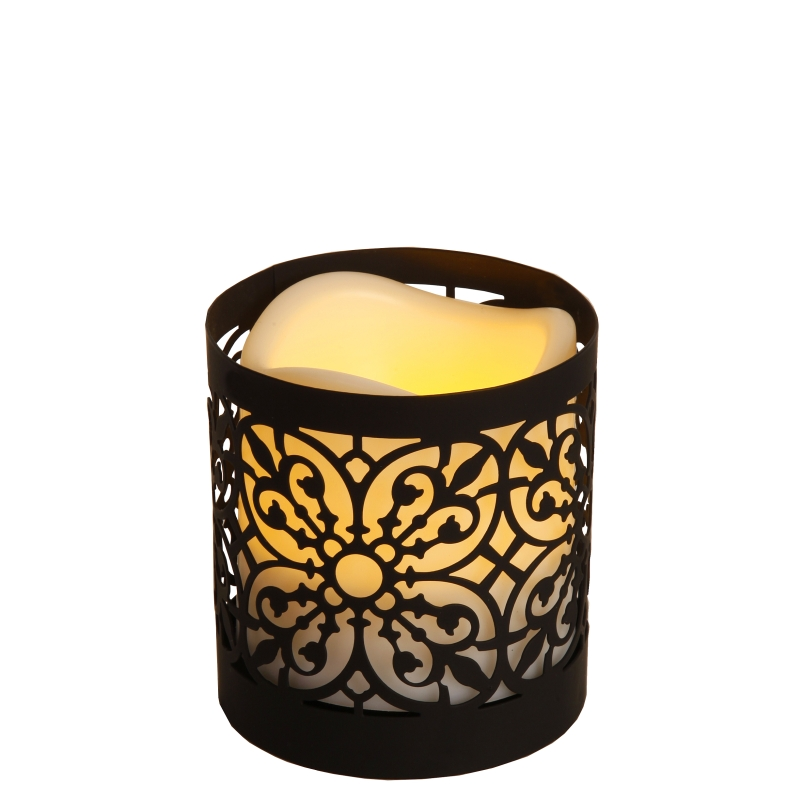 laterne mit led kunststoff kerze lantern timer flackernde flammenlose candle ebay. Black Bedroom Furniture Sets. Home Design Ideas