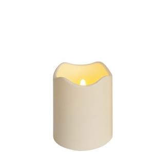 led leucht kerze outdoor big 125x100mm f r au en mit timer kunststoff. Black Bedroom Furniture Sets. Home Design Ideas
