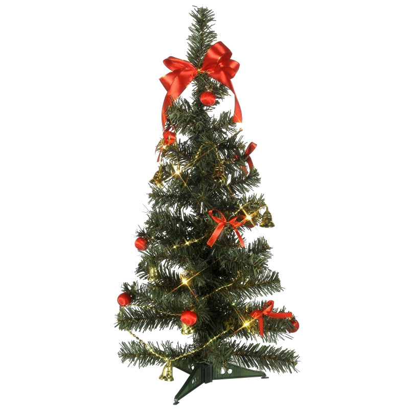 weihnachtsbaum 60cm inkl deko led lichterkette mit timer christbaum beleuchtet ebay. Black Bedroom Furniture Sets. Home Design Ideas
