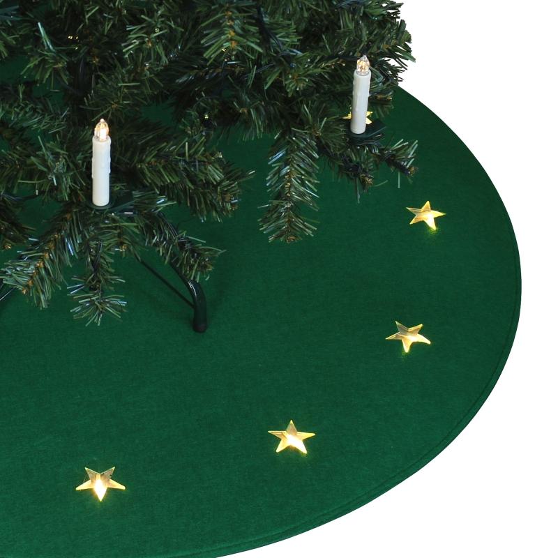 tapis de sapin no l avec toiles lumineuses d 39 arbre ebay. Black Bedroom Furniture Sets. Home Design Ideas