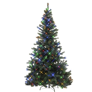 led weihnachtsbaum 210cm bunt f r innen und aussen k nstlicher christbaum. Black Bedroom Furniture Sets. Home Design Ideas