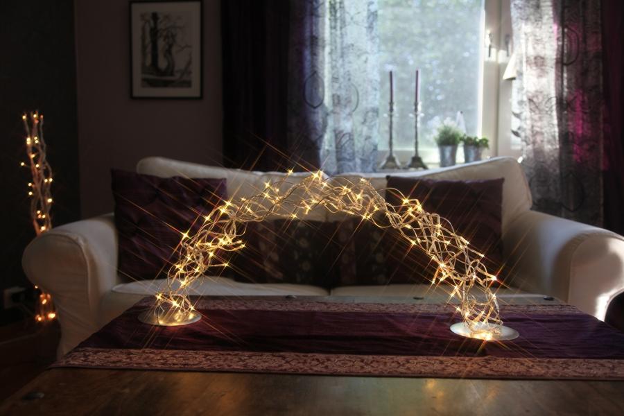 Design led lichterbogen curly bow weihnachtsleuchter - Weihnachtsdeko fenster beleuchtet ...